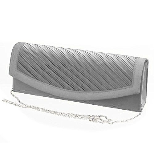 Borsetta elegante da donna - Handbag Clutch Argento Schick