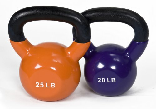 j fit Vinyl Kettlebell Set – 20-25 lbs.