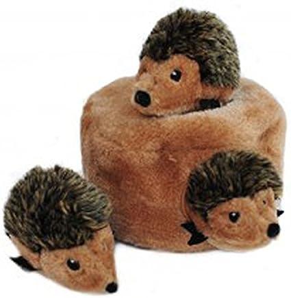 ZippyPaws Interactive Puzzle Zippy Burrow Hedgehog Den Dog Toy, 7 Inch18 cm