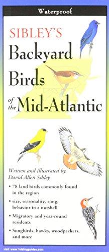 Sibley's Backyard Birds of Mid-Atlantic (Foldingguides)