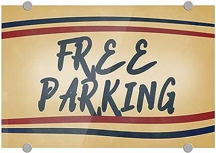 Nostalgia Stripes Premium Acrylic Sign Free Parking 27x18 CGSignLab