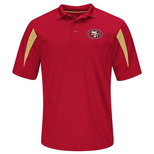 (San Francisco 49ers Team Apparel STREAK Adult Large Performance Short Sleeve Polo Shirt - Red)