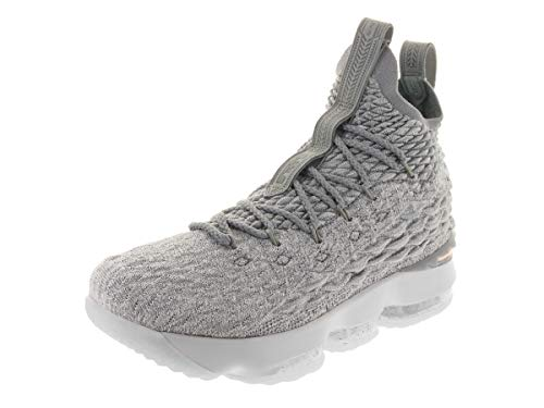 official photos ee832 0187f Nike Kids Lebron XV (GS) Wolf Grey/Metallic Gold Basketball Shoe 6 Kids US