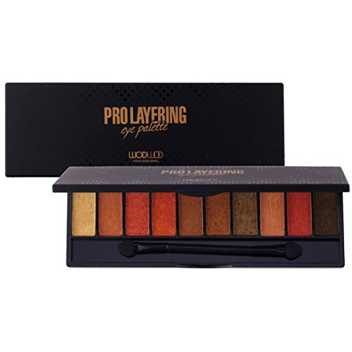 Pro Eyeshadow Palette Big Promotion!ZYooh Luxury Golden Pearl Matte Nude Eyeshadow 10 Colors Halloween Makeup Palette (C)