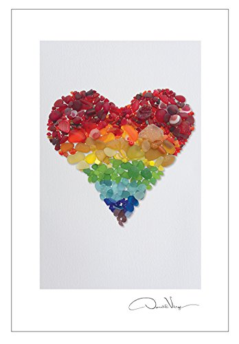 Rainbow Heart Postcard Prints. 10 Pack 4x6. from The Heart Series. Best Quality Birthday Cards, Thank You Notes & Invitations. Unique Birthday, Christmas, Mother's Day & Valentines Day Gifts.