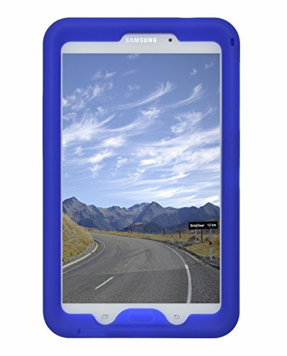 Bobj Rugged Case for Samsung Galaxy Tab 4 8-inch Tablet SM-T330, SM-T331, SM-T335, SM-T337, SM-T337A other SM-T33 (Not for Tab A 8) - BobjGear Sound Amplification - Kid Friendly (Batfish Blue)