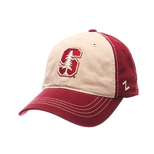 NCAA Stanford Cardinal Men's Sigma Relaxed Cap, Stone/Cardinal, Adjustable