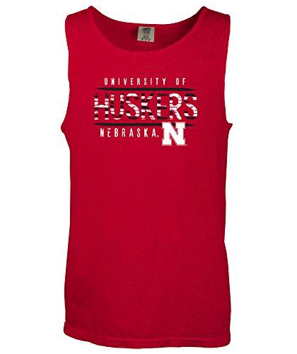 NCAA Nebraska Cornhuskers Bricks Comfort Color Tank Top, XX-Large,Red ()