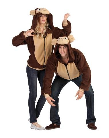 Morgan The Monkey Costume (RG Costumes Morgan The Monkey Hoodie, Brown/Tan, Small)