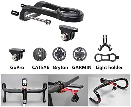 Honbobo V/élo Support dextension pour Garmin Edge//Bryton Rider//CatEye//Gopro Camera//Light