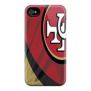 For Iphone 4/4s Premium Tpu Case Cover San Francisco 49ers Protective Case