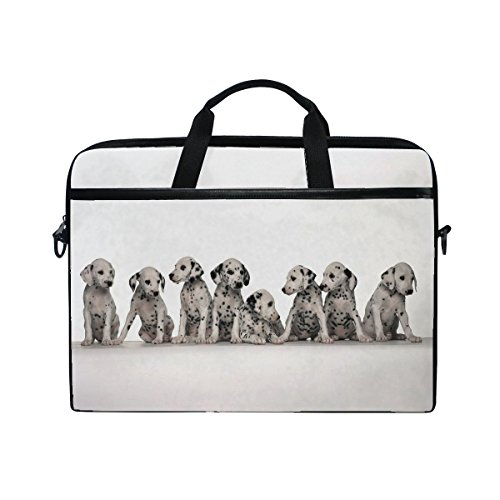 Animal Dog Great Dane Blackandwhite Mix Small Puppy Adorable Pet Laptop Shoulder Messenger Bag Case Sleeve For 14 Inch To 15.6 Inch With Adjustable Notebook Shoulder Strap (Best Great Dane Mixes)