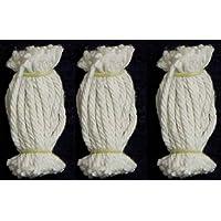 Lamp Wicks -Cotton/Karthika Vilakku Thiri/Panju Thiri (Pack of 12 Bundles)