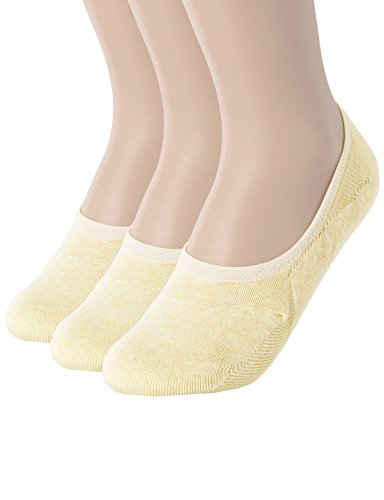 OSABASA Womens 3 to 5 Pack Thin Casual No Show Socks Non Slip Flat Boat Line