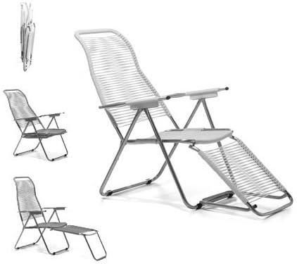 Jan Kurtz FIAM Spaghetti Chair Bianco Sole Sdraio con