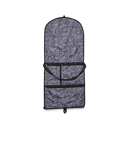 LeSportsac Classic Large Garment Bag, Exclusive The Boroughs Navy Print