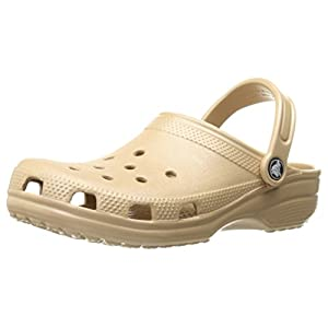 Crocs Unisex Classic Clog, Gold, 11 US Men / 13 US Women