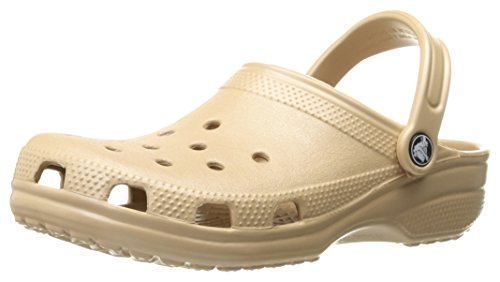 Mens Professional Clog - Crocs Men's and Women's Classic Clog, Comfort Slip On Casual Water Shoe, Lightweight, Gold, 8 US Women / 6 US Men