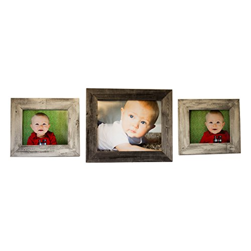11x14 16x20 Barnwood Picture Frame Set | Wall Mount | Handmade Rustic Reclaimed Wood - - Designs Frame Handmade