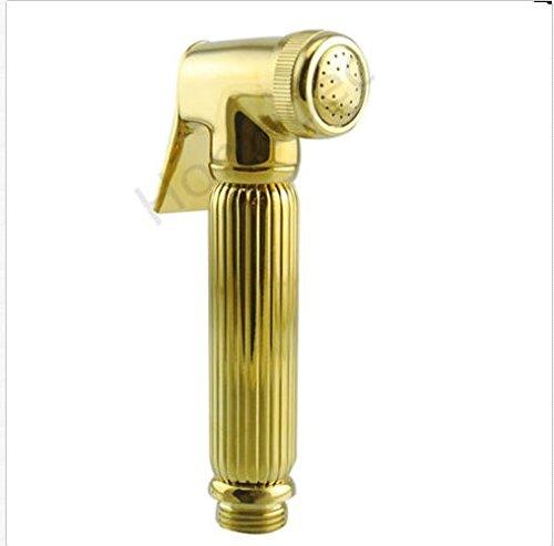 Luxury Brass Gold Plated Bathroom Bidet Sprayer Hand Held Sprayer