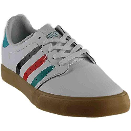 f9705f7b44a55a Galleon - Adidas Skateboarding Men s Seeley Court Footwear White Energy Blue  Energy Blue Athletic Shoe