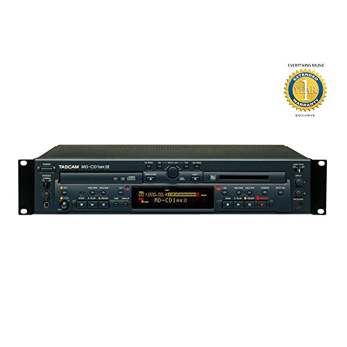 Tascam MD-CD1MKIII Combination CD Player and MiniDisc Recorder with Included 1 Year EverythingMusic Extended Warranty by Tascam (Image #3)