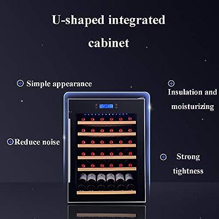 VIY Refrigerador de Vino de 32 Pulgadas Refrigerador Refrigerador Mini refrigerador Compresor de Vino Botella de Vino Tiendas de Enfriador de hasta 41 Botellas