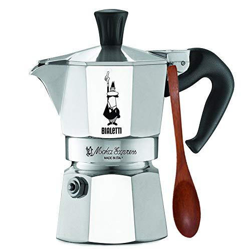 | Espresso Maker Machine and Zonoz Wooden Small Espresso Stirring Spoon Bundle (1-cup, 2.0 fl oz, 60 ml) ()