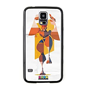 New - SAGAT Street Fighter Cartoon Embossed Design Black Bumper Plastic+TPU Case Cover for Samsung Galaxy S5