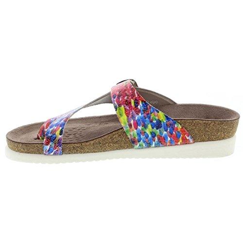 Mephisto HELEN ETNA 7103 GREY P5046230 - Sandalias de cuero para mujer Dinero Multicolor
