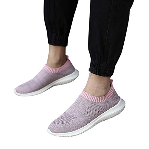 ASERTYL Women's Comfortable Mesh Walking Shoes Outdoor Casual Slip-On Lightweight Work Sneakers ()