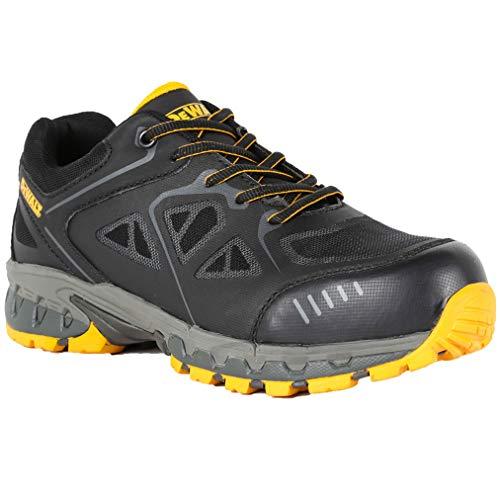 (DEWALT Men's Angle PT Plain Toe Oil/Slip Resistant Shoes (13 M US) Black/Yellow)