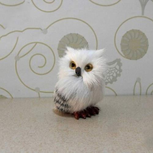 Owl Plastic - Artificial Plush Owl Pineapple Christmas Tree Ornaments Hanging Pendant - Home Owl Owl Fake Craft Artificial Bird Owl Scarecrow Garden Bird Bird Bicycle Toy Resin Owl Decoy ()