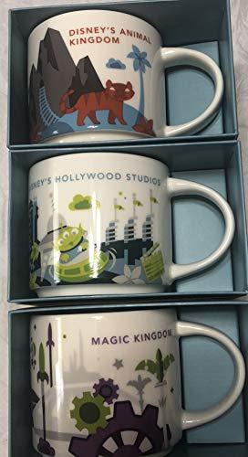 Set of 3 Mugs: Starbucks You Are Here Disney