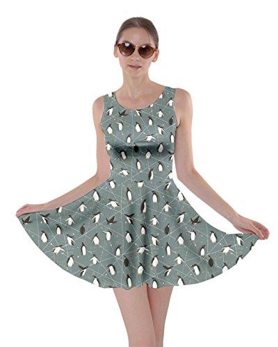A Vestito Pinguini Su Con Pieghe Cowcow Modello 2xl Blu Carino Blu Blu 0qHAwA