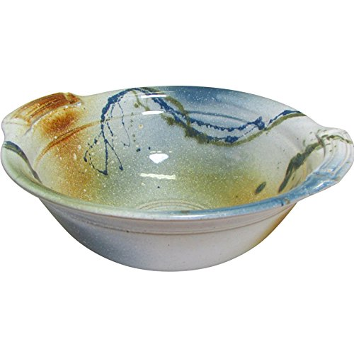 "Handmade Irish Serving Bowl. High Quality Pottery Serveware. Hand-Thrown Using Blended Native Clays. Hand-Glazed Finish with Beautiful Colors. Dish Measures 10.5"" Diameter x 4.5"" Height. by Kiltrea Pottery Ireland"