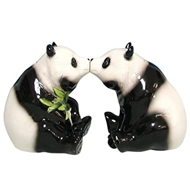 Westland Giftware Mwah Magnetic Pandas Salt and Pepper Shaker Set, 2-3/4-Inch