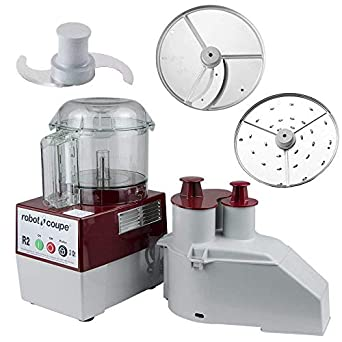 Robot Coupe R2N Continuous Feed Combination Food Processor with 3-Quart Bowl, 1-HP, 120-Volts