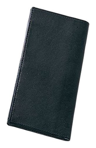 Bellino Check Book Cover, Leather, Black Preferred Nation 8008