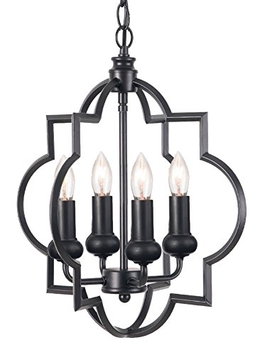 4 light pendant black homenovo lighting mersey 4light pendant lighting industrial style lighting for entryway amazoncom