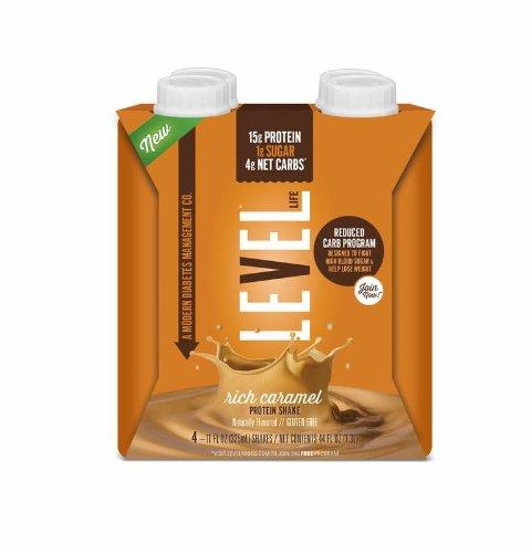 Niveau de vie de gestion du diabète Protein Shake, Rich Caramel, 4 comte