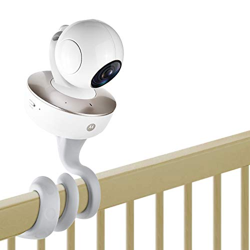 iTODOS Baby Monitor Mount for Motorola Baby Monitor, Arlo Baby Monitor and Most Universal Monitors Camera, Versatile Twist Mount Without Tools or Wall Damage – Gray