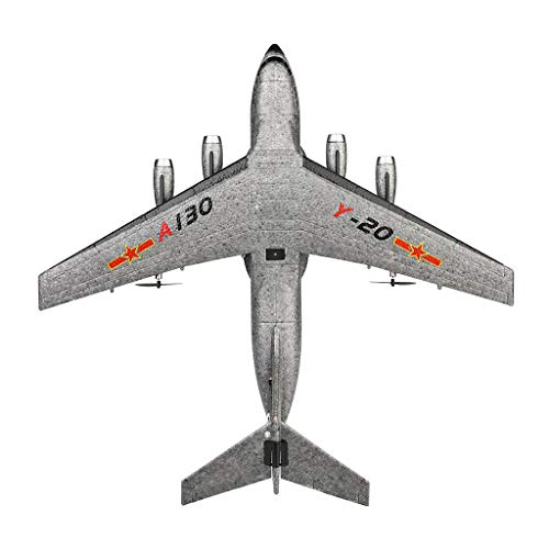 XK A130 Xian Y-20 Model Military Transport Aircraft 3CH design RTF Glider RC Airplane, EPP anti-crash material, 360° flip stunt skill, 200m Control distance, for beginners and professionals to choose by COLOR-LILIJ (Image #5)