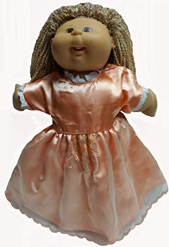 Doll Clothes Super store Tangerine Formal Dress Fits Cabbage Patch Kid and 15-16 Inch Baby Dolls