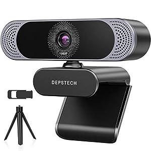 Flashandfocus.com 41aqVM4CWnL._SS300_ Webcam with Microphone, 2021 DEPSTECH 1080P HD Webcam USB Computer Web Camera with Privacy Cover and Tripod, Plug and…