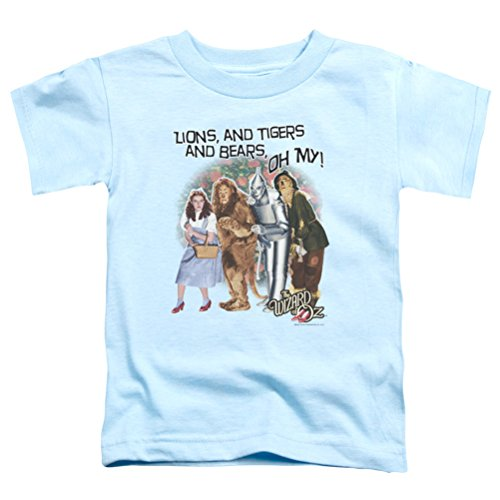 Kids The Wizard Of Oz Lions and Tigers and Bears Oh My! Toddler Shirt, Light Blue, - North Kansas City Metro
