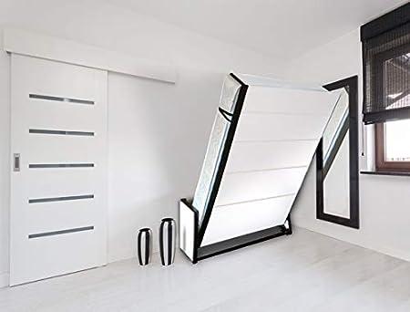 Wallbedking Cama doble vertical de estudio de pared de 135 cm x 190 cm, cama plegable, cama oculta, cama plegable