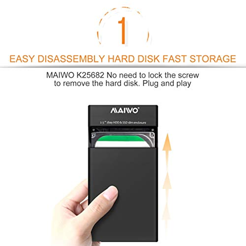 K25682 Dual Bay HDD SSD Slim Enclosure Disco duro externo portátil ...