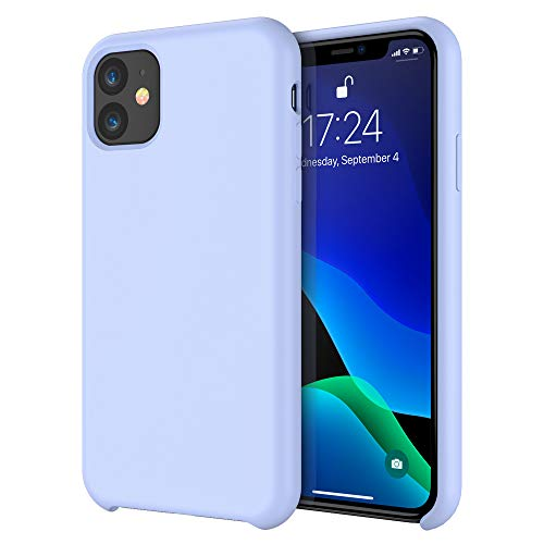 iPhone 11 Case RAXFLY Soft Silicone Protective Case for Apple iPhone 11 Liquid Phone Cases 6.1 inch 2019 Mobile Phone Basic Cover Compatible with iPhone 11 Suppprt Wireless Charging Light Blue (Best Basic Cell Phone 2019)