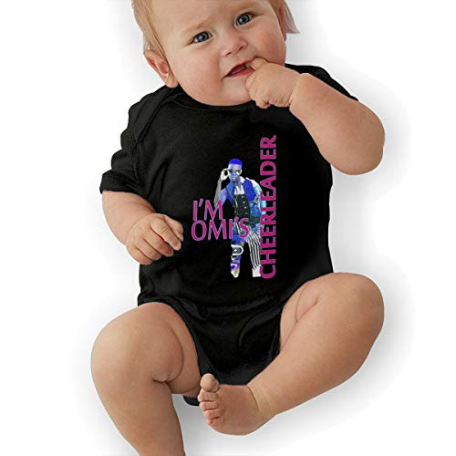- JosephG Infant OMI Cheerleader Bodysuit Onesie Black 12M